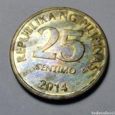 Monedas antiguas de Asia: MONEDA FILIPINAS ... 25 SENTIMO 2014. Lote 214033321