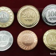 Monedas antiguas de Asia: ARMENIA SET 6 MONEDAS 10 20 50 100 200 500 DRAM 2003 SC UNC. Lote 214078185