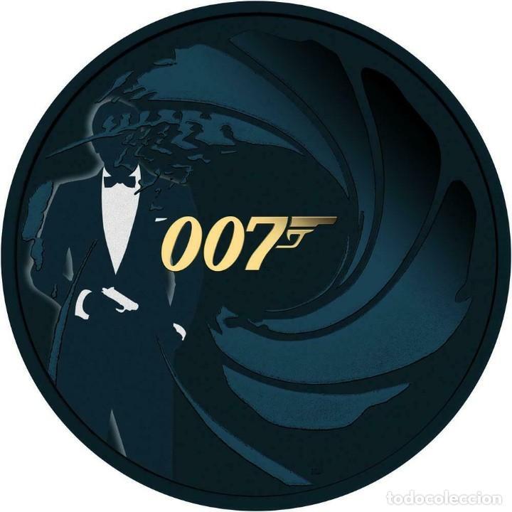 MONEDA TUVALU 2020 1 $ - JAMES BOND 007 .PLATA 1 ONZA. COLOR EDICION LUJO (Numismática - Extranjeras - Asia)