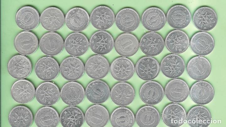 JAPON. 39 MONEDAS DE 1 YEN, 39 FECHAS, 2 MODELOS (Numismática - Extranjeras - Asia)