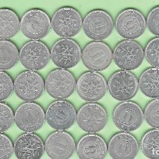 Monedas antiguas de Asia: JAPON. 39 MONEDAS DE 1 YEN, 39 FECHAS, 2 MODELOS. Lote 215101336