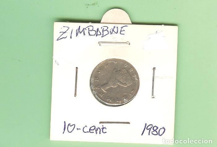 ZIMBABWE. 10 CENT 1980. CUPRONÍQUEL. KM#3 (Numismática - Extranjeras - Asia)