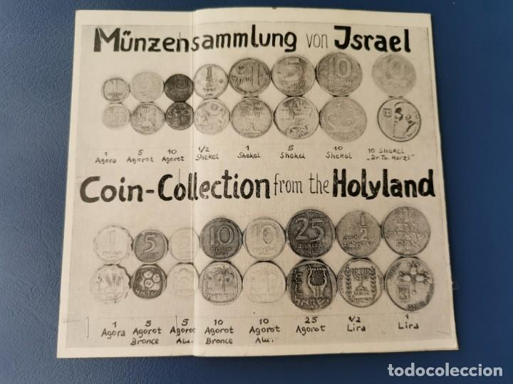 SOUVENIR 16 MONEDAS ISRAEL.TIERRA SANTA. COIN COLLECTION FROM THE HOLYLAND.MÜNZENSAMMLUNG VON ISRAEL (Numismática - Extranjeras - Asia)
