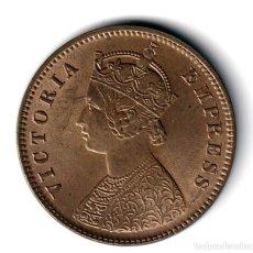 Monedas antiguas de Asia: INDIA BRITANICA 1/4 ANNA - ONE QUARTER ANNA - INDIA 1889 - REINA VICTORIA. Lote 216432930