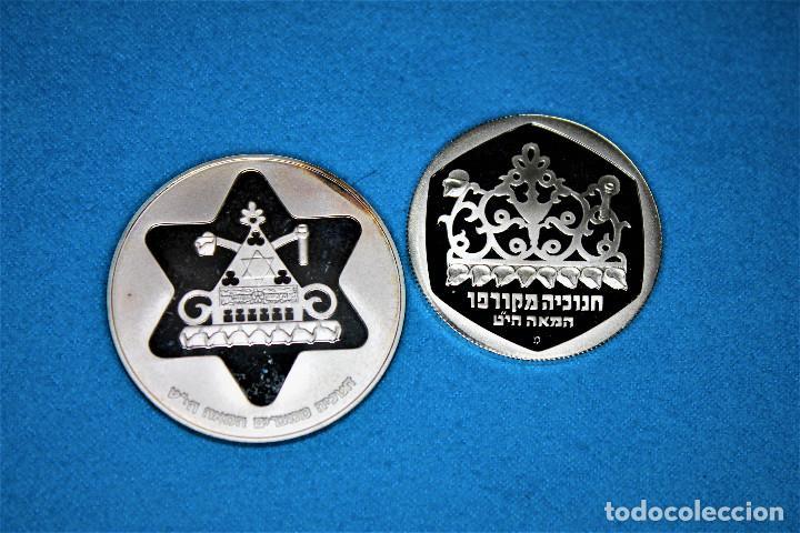 Monedas antiguas de Asia: Israel - 100-1 1979-1980 - Dos estuches del Gobierno de Israel, plata. IL 100 Proof- 1 Sheqel Proof - Foto 2 - 216625432