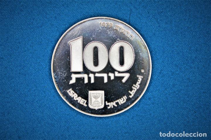 Monedas antiguas de Asia: Israel - 100-1 1979-1980 - Dos estuches del Gobierno de Israel, plata. IL 100 Proof- 1 Sheqel Proof - Foto 4 - 216625432