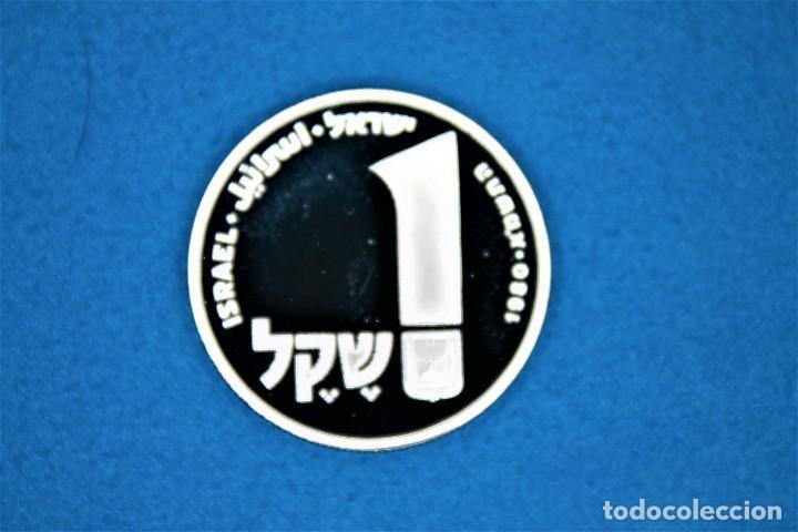 Monedas antiguas de Asia: Israel - 100-1 1979-1980 - Dos estuches del Gobierno de Israel, plata. IL 100 Proof- 1 Sheqel Proof - Foto 6 - 216625432