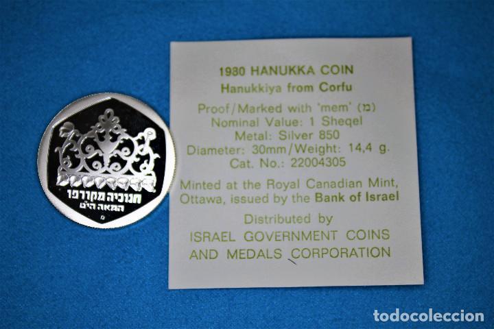 Monedas antiguas de Asia: Israel - 100-1 1979-1980 - Dos estuches del Gobierno de Israel, plata. IL 100 Proof- 1 Sheqel Proof - Foto 10 - 216625432