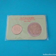 Monedas antiguas de Asia: MONEDAS DE TAILANDIA, - 10 BATH - 2 BATH, RAMA IX CENTENARIO DE LA CRUZ ROJA TAILANDESA. Lote 217488860