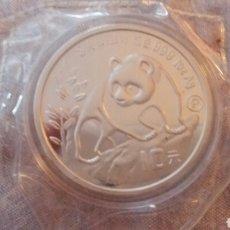 Monedas antiguas de Asia: PRECIOSA MONEDA PANDA 1990 1 ONZA PLATA. Lote 235496890