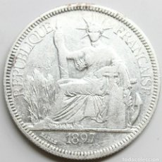 Monedas antiguas de Asia: MONEDA FRANCIA INDO CHINA 1897 A 1 PIASTRE PLATA. Lote 218122115