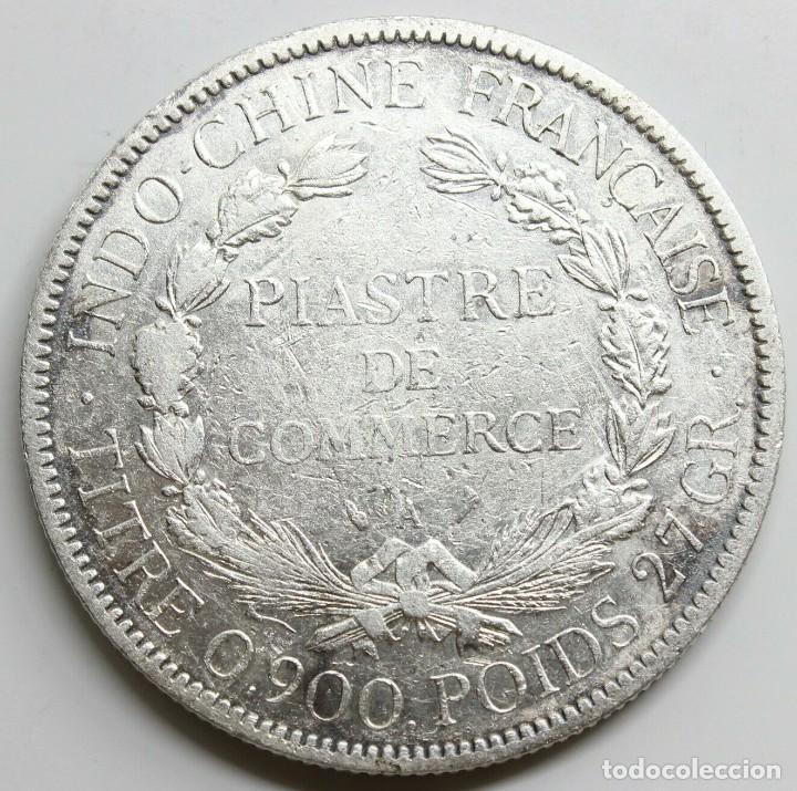 Monedas antiguas de Asia: MONEDA FRANCIA INDO CHINA 1897 A 1 PIASTRE PLATA - Foto 2 - 218122115