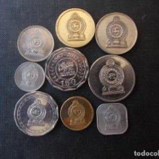 Monedas antiguas de Asia: CONJUNTO DE MONEDAS DE SRI LANKA UNA DE CONMEMORATIVA DIFICIL. Lote 218191655