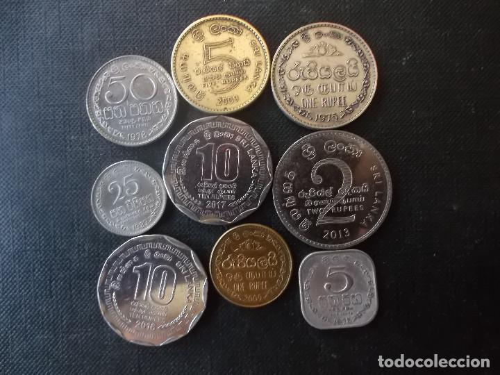 Monedas antiguas de Asia: conjunto de monedas de Sri Lanka una de conmemorativa dificil - Foto 2 - 218191655