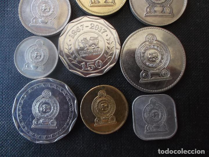 Monedas antiguas de Asia: conjunto de monedas de Sri Lanka una de conmemorativa dificil - Foto 4 - 218191655