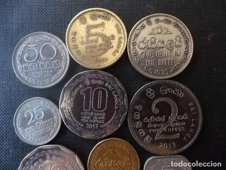Monedas antiguas de Asia: conjunto de monedas de Sri Lanka una de conmemorativa dificil - Foto 6 - 218191655
