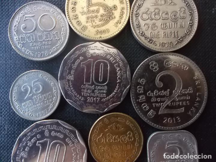 Monedas antiguas de Asia: conjunto de monedas de Sri Lanka una de conmemorativa dificil - Foto 8 - 218191655