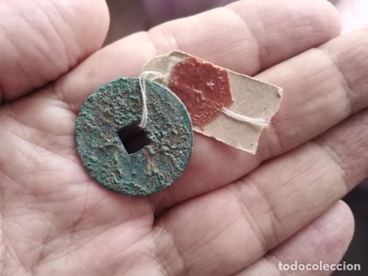 Monedas antiguas de Asia: MUY ANTIGUA MONEDA CHINA SELLO LACRE - Foto 2 - 218422757