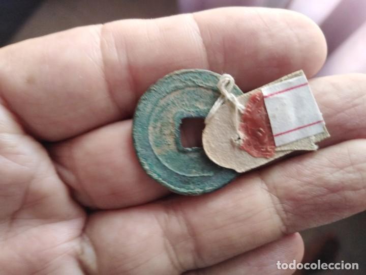 Monedas antiguas de Asia: MUY ANTIGUA MONEDA CHINA SELLO LACRE - Foto 2 - 218422858