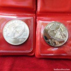 Monedas antiguas de Asia: SINGAPUR SINGAPORE 2 X 10 $ 1979 1980 ANTENA. Lote 218628656
