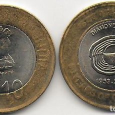 Monedas antiguas de Asia: INDIA 10 RUPIAS 2013 COIR BOARD KM#433 SC. Lote 218633592