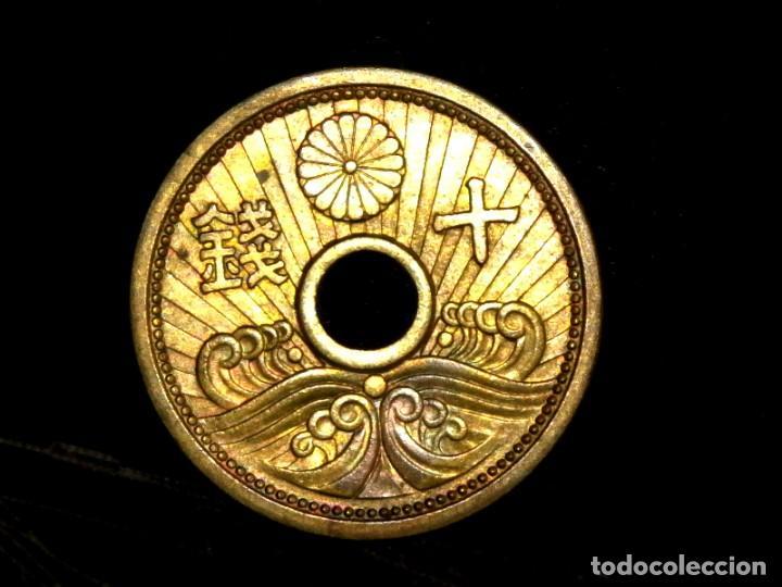 Monedas antiguas de Asia: 10 sen 1938 Japón era Showa (A7) AU - Foto 2 - 219962441