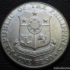 Monedas antiguas de Asia: FILIPINAS 1 PESO 1967 25ª ANIV. BATALLA DE BATAN REF. 3 -PLATA-. Lote 220095318