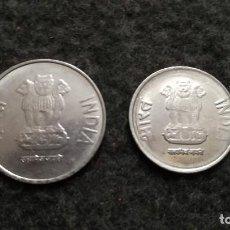 Monedas antiguas de Asia: LOTE DE 2 MONEDAS DE LA INDIA (115). Lote 220379451