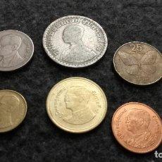 Monedas antiguas de Asia: LOTE DE 6 MONEDAS DE THAILANDIA ( 121 ). Lote 220381276