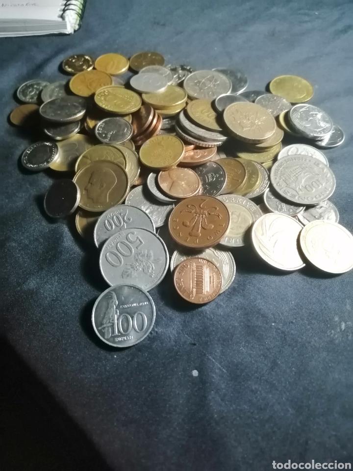 Monedas antiguas de Asia: Lote de 100 monedas mundiales de 21 paises + regalo. - Foto 8 - 221432970