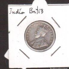 Monedas antiguas de Asia: MONEDA DE INDIA BRITIS PLATA HALF RUPEE 1916. Lote 221604061