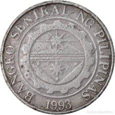 Monedas antiguas de Asia: MONEDA, FILIPINAS, PISO, 2002, BC+, COBRE - NÍQUEL, KM:269. Lote 221984305