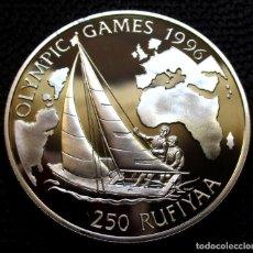 Monedas antiguas de Asia: MALDIVAS 250 RUFIYAA 1993 -JJOO ATLANTA-96- -PLATA-. Lote 222478416