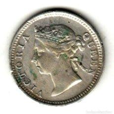 Monedas antiguas de Asia: COLONIAS DEL ESTRECHO (STRAITS SETTLEMENTS) 5 CENT PLATA 1889 REINA VICTORIA. Lote 223008712