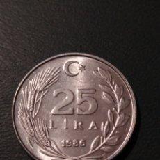 Monedas antiguas de Asia: 25 LIRAS 1986 TURQUÍA KM#975. Lote 223601472