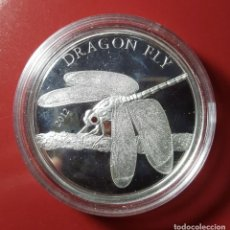 Monedas antiguas de Asia: FIVE DÓLAR TOKELAU 2014 DRAGON FLY PLATA UNC. Lote 224753951