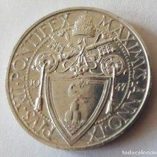 Monedas antiguas de Asia: 1, 5 Y 10 LIRAS CIUDAD DEL VATICANO 1.947 SC. Lote 224923768