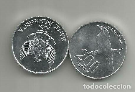 MONEDA DE INDONESIA 200 RUPIAS 2003 DE CARTUCHO S/C (Numismática - Extranjeras - Asia)