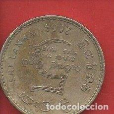 Monedas antiguas de Asia: SRI LANKA, 5 RUPIAS 2004, BC. Lote 226212910