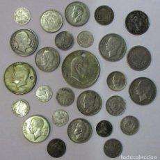 Monedas antiguas de Asia: 27 MONEDAS EXTRANJERAS MUNDIALES DE PLATA DE DIVERSA CALIDAD. LOTE 3580. Lote 244403105