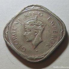 Monedas antiguas de Asia: 2 ANNAS 1943 INDIA BRITÁNICA GEORGE VI MBC. Lote 231917425