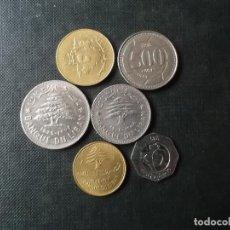 Monedas antiguas de Asia: CONJUNTO DE 6 MONEDAS DE LIBANO DIVERSOS VALORES MUY DIFICLES. Lote 233123290
