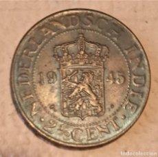 Monete antiche di Asia: INDIAS HOLANDESAS. 2 Y MEDIO CÉNTIMOS 1945. II GM. MONEDA COLONIAL. Lote 233981565