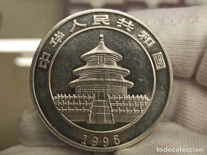 Monedas antiguas de Asia: China 10 Yuan Panda 1995 Km 732 Onza Plata Proof - Foto 2 - 234897460