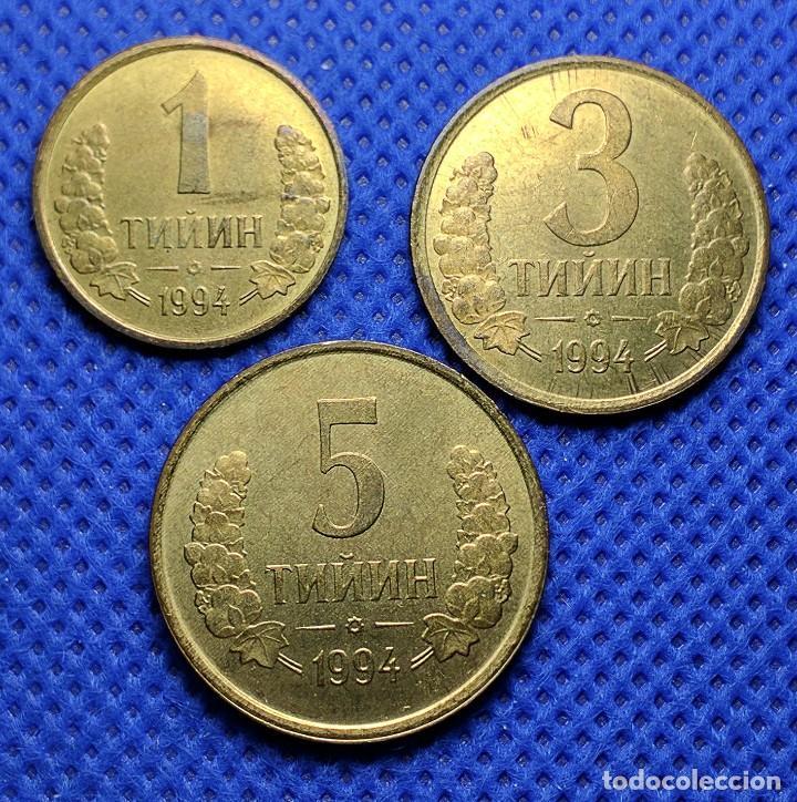 MONEDAS UZBEKISTÁN 1 3 5 TIYIN 1994 S/C (Numismática - Extranjeras - Asia)