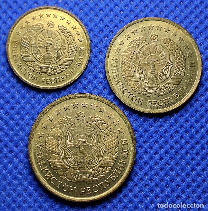 Monedas antiguas de Asia: Monedas Uzbekistán 1 3 5 tiyin 1994 S/C - Foto 2 - 234942595