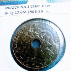 Monedas antiguas de Asia: INDOCHINA FRANCESA 1 CENT 1939. Lote 235335600