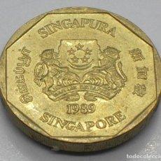 Monedas antiguas de Asia: SINGAPUR, 1 DÓLAR 1989. Lote 235543120