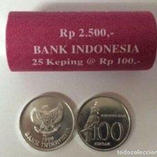 Monedas antiguas de Asia: MONEDA DE INDONESIA 100 RUPIAS 1999 SC DE CARTUCHO. Lote 236143305