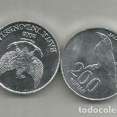 Monedas antiguas de Asia: MONEDA DE INDONESIA 200 RUPIAS 2003 SC DE CARTUCHO. Lote 236143365